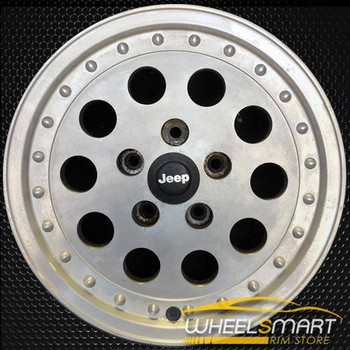 "15"" Jeep Cherokee OEM wheel 1989-1991 Silver alloy stock rim 9030 ALY09030U10"