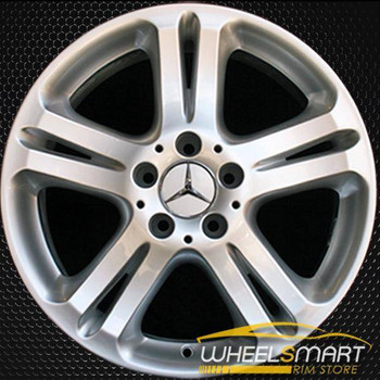 "17"" Mercedes E500 OEM wheel 2004-2006 Hypersilver alloy stock rim ALY65332U78"