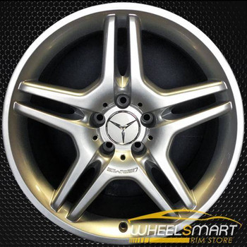 "18"" Mercedes SL550 OEM wheel 2008 Silver alloy stock rim ALY85033U20"