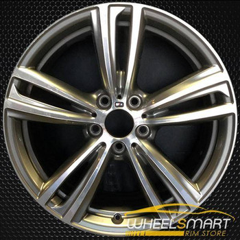 "19"" BMW 320i OEM wheel 2014-2018 Machined alloy stock rim ALY86013U30"