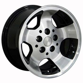 "15"" Jeep Wrangler replica wheel 1987-2006 Black Machined rims 8537979"