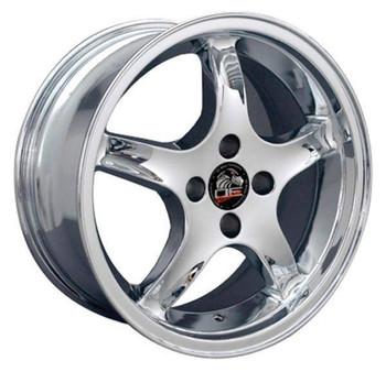 "17"" Ford Mustang   replica wheel 1979-1993 Chrome rims 8181860"