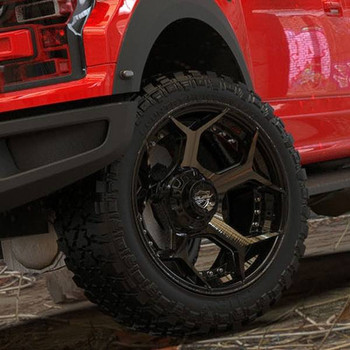 4Play 4P50 Brushed Black truck wheel detail