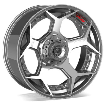 6-Lug 4Play 4P50 Wheels Machined Gunmetal Custom Truck Rims