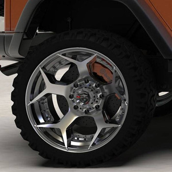 4Play 4P50 Brushed Gunmetal truck wheel detail