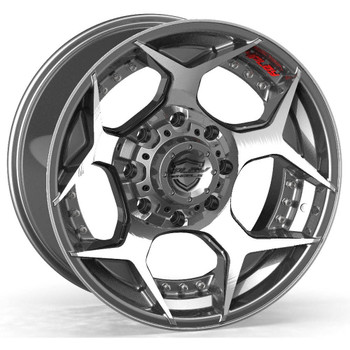 Machined Black 8-Lug 4Play 4P50 truck rims Fit GM
