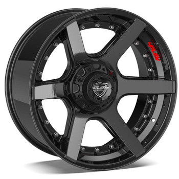 5-lug 4Play 4P60 Wheels Machined Black Custom Truck Rims fit Ram-Jeep-Dodge-Ford-GM
