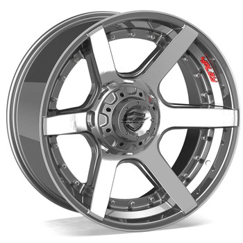 6-Lug 4Play 4P60 Wheels Machined Gunmetal Custom Truck Rims