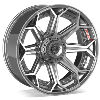 5-lug 4Play 4P08 Wheels Machined Gunmetal Custom Truck Rims