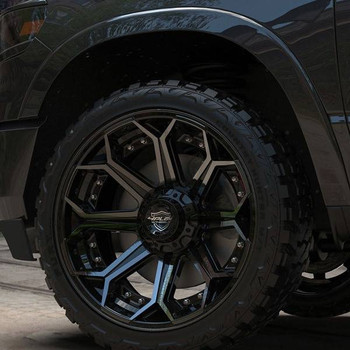 4Play 4P80 Brushed Black truck wheel detail