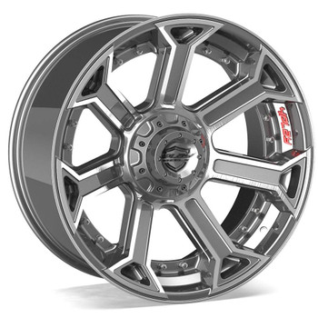 6-Lug 4Play 4P70 Wheels Machined Gunmetal Custom Truck Rims