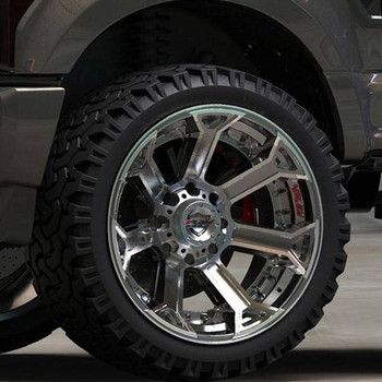 4Play 4P70 Brushed Gunmetal truck wheel detail