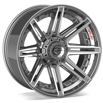 6-Lug 4Play 4P08 Wheels Machined Gunmetal Custom Truck Rims
