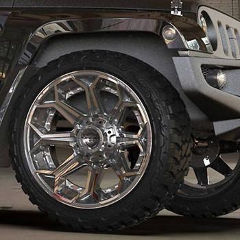 4Play 4P80 Brushed Gunmetal truck wheel detail
