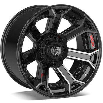 8-Lug 4Play 4P70 Wheels Machined Black Rims Fit GM-Chevy Trucks