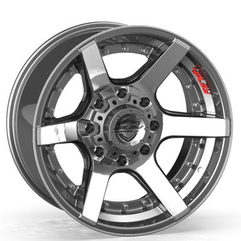 Machined Gunmetal 8-Lug 4Play 4P60 truck rims Fit GM