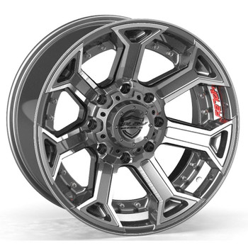Machined Gunmetal 8-Lug 4Play 4P70 truck rims Fit GM