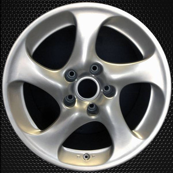 "18"" Porsche 911 OEM wheel 2001-2004 Silver alloy stock rim 99636214201, 99636214210"