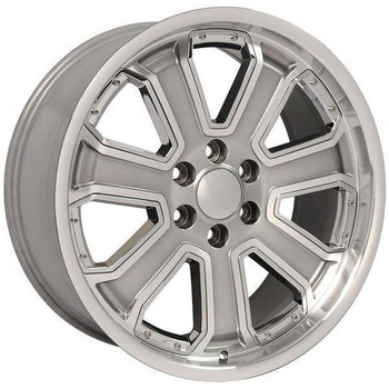 "22"" Chevy C2500 replica wheel 1988-2000 Hyper Black Machined rims 9506716"