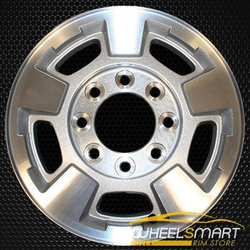 "17"" Chevy Silverado 2500 3500 OEM wheel 2011-2019 Machined alloy stock rim 9597726, 9597727"