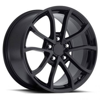 Gloss Black Chevy Corvette C6 Cup Replica Wheels Rims FR25