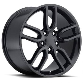 Gloss Black Chevy Corvette C7 Z51 Replica Wheels Rims FR26
