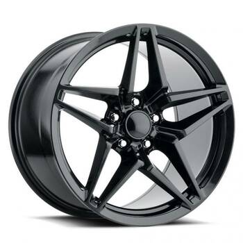 Satin Black Chevy Corvette C7 ZR1 Replica Wheels Rims FR29