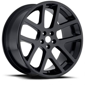 Gloss Black Dodge Magnum LX Viper Replica Wheels Rims FR64