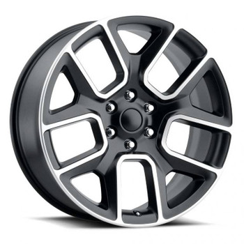 Machined Face Black Dodge Ram 1500 Replica Wheels Rims FR76