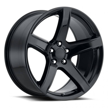 Gloss Black Dodge Challenger Hellcat HC2 Replica Wheels Rims FR77