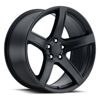 Satin Black Dodge Challenger Hellcat HC2 Replica Wheels Rims FR77