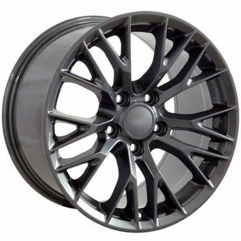 "19"" Chevy Corvette  replica wheel 2005-2013 Gunmetal rims 9498434"