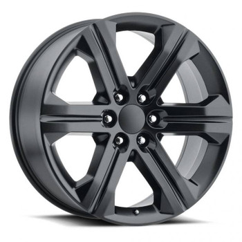 Satin Black GMC Savana 1500 Replica Wheels Rims FR47