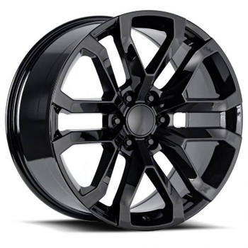 Gloss Black GMC Sierra 1500 Denali Replica Wheels Rims FR95