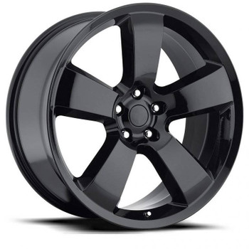 Dodge Charger Replica Wheels Gloss Black rims FR61