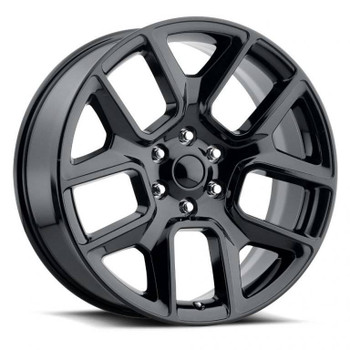 Gloss Black Dodge Ram 1500 Replica Wheels Rims FR76