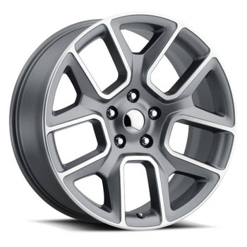 Machined Face Gray Dodge Ram 1500 Replica Wheels Rims FR76