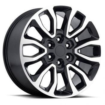 Machined Face Black Ford F150 Raptor Replica Wheels Rims FR53