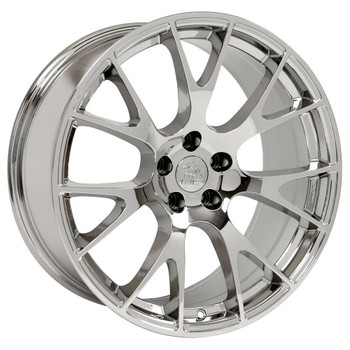"""22"""" Chrome Hellcat replica wheels Dodge Charger replacement rims 9507540"""