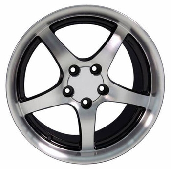 "18"" Pontiac Firebird  replica wheel 1993-2002 Black Machined rims 5910560"