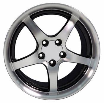 "18"" Pontiac Firebird  replica wheel 1993-2002 Black Machined rims 5910560"