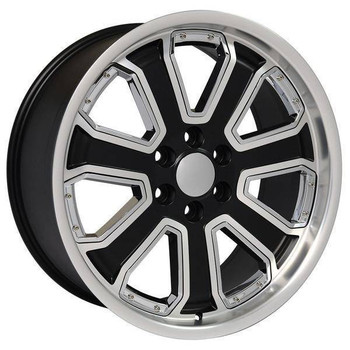 "22"" Chevy C2500 replica wheel 1988-2000 Machined Black rims 9506711"