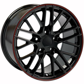 "19"" Chevy Corvette  replica wheel 2005-2013 Black rims 9451357"