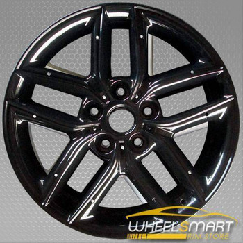 "17"" Kia Forte OEM wheel 2010-2013 Black alloy stock rim 529101M350 NO Inserts"
