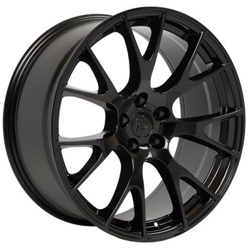 "20"" Gloss Black Hellcat replica wheel for Dodge Challenger. Replica Rim 9510049"