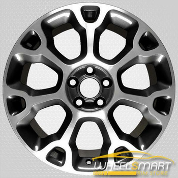 "17"" Fiat 500 OEM wheel 2014-2018 Machined alloy stock rim 5RB56LSZAA, 5RB56LSZAA"