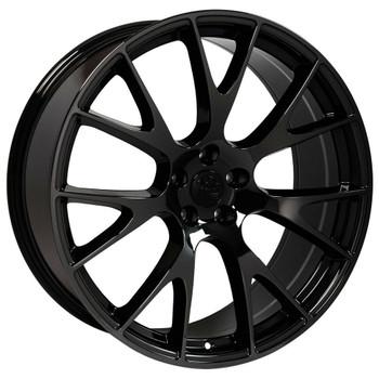 "22"" Black chrome Hellcat replica wheel for Dodge Ram replacement rims 9507889"