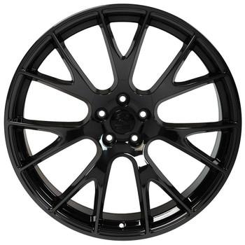 "22"" Black Chrome Hellcat wheel replacement for Dodge Ram. Replica Rim 9507889"