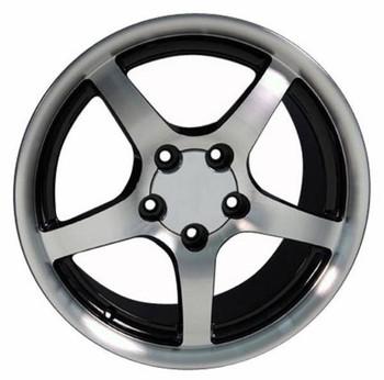 "18"" Pontiac Firebird replica wheel 1993-2002 Black Machined rims 6815399"