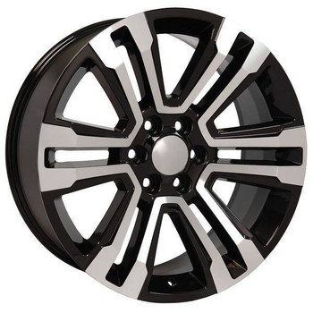 "22"" Chevy Avalanche replica wheel 2002-2013 Black Machined rims 9507898"